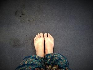 Black sand beach, Varkala