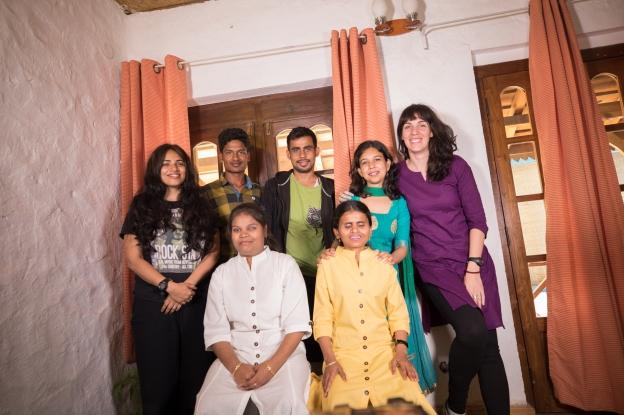 The crew with Neha, Laxmi and Aparna (from the NGO)