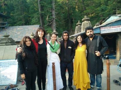 The crew + Suraj behind the camera
