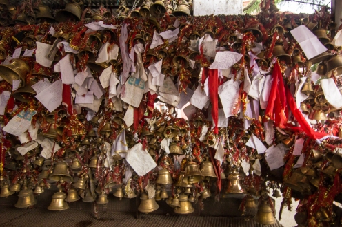 Golu baba's bell temple where people put up their unsettled court papers hoping to get them resolved