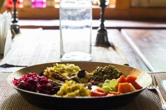 Sattvic yogic food at Van Serai, Jageshwar