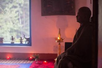 Meditation/yoga room with guruji